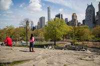 Central park, one of the many playgrounds, New York City