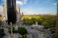 Central park and Columbus Circle, New York City