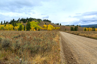 Dirt road, Jackson Hole, Grand Teton National Park
