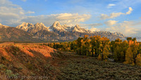 Teton Range at sunrise, Jackson Hole, Grand Teton National Park