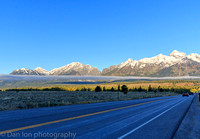 Driving north on highway 191, Jackson Hole, Grand Teton National Park