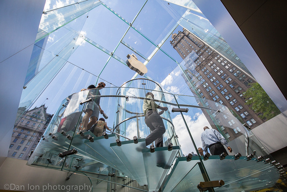 Apple flagship store, 5th Ave.  NYC. All glass entrance.
